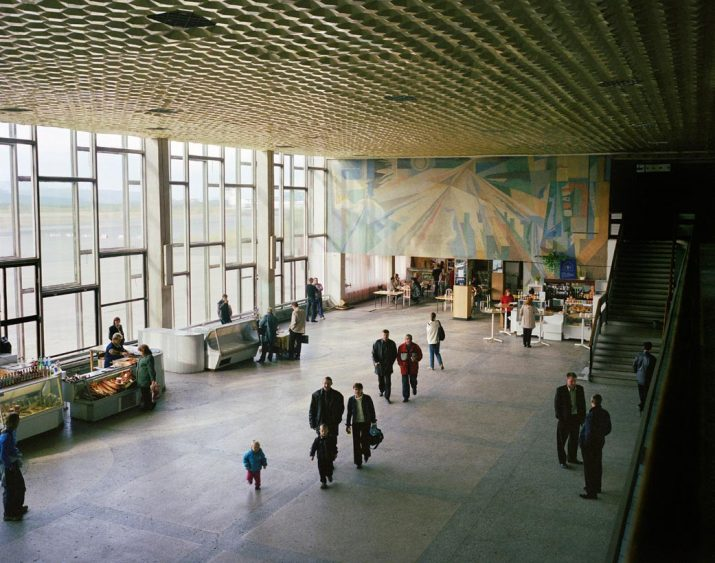 Airport departure lounge, Magadan, Far East Russia, August 2004