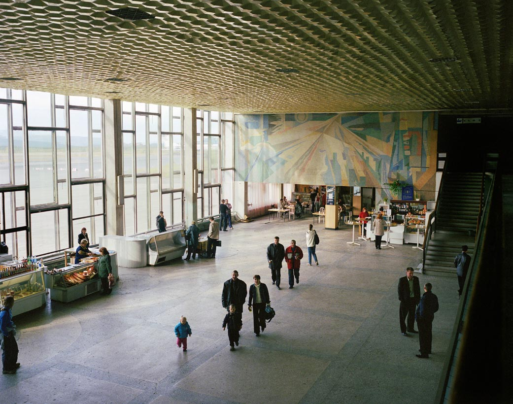Airport departure lounge, Magadan, Far East Russia, August 2004