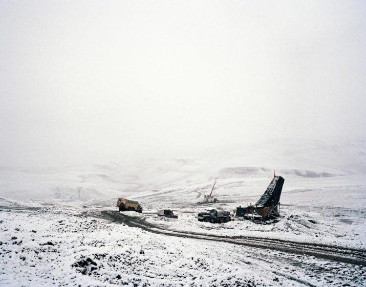 Drilling rigs, Kupol gold mine, Chukotka, Far East, September 2004