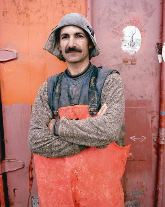 Driller, Kupol gold mine, Chukotka, Far East, September 2004