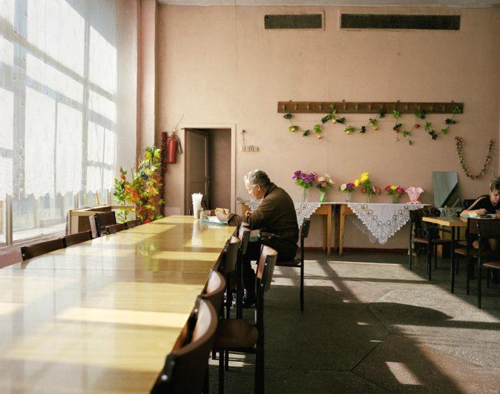 Dockworker in Petropavlovsk Port canteen, Kamchatka Peninsula, Far East Russia, October 2004