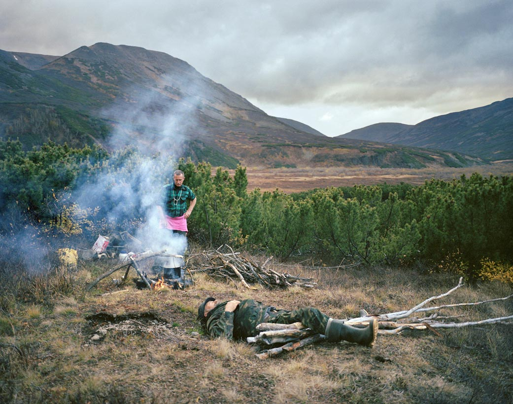 Camping with Sasha and Paval, Kamchatka Peninsula, Far East Russia, October 2004