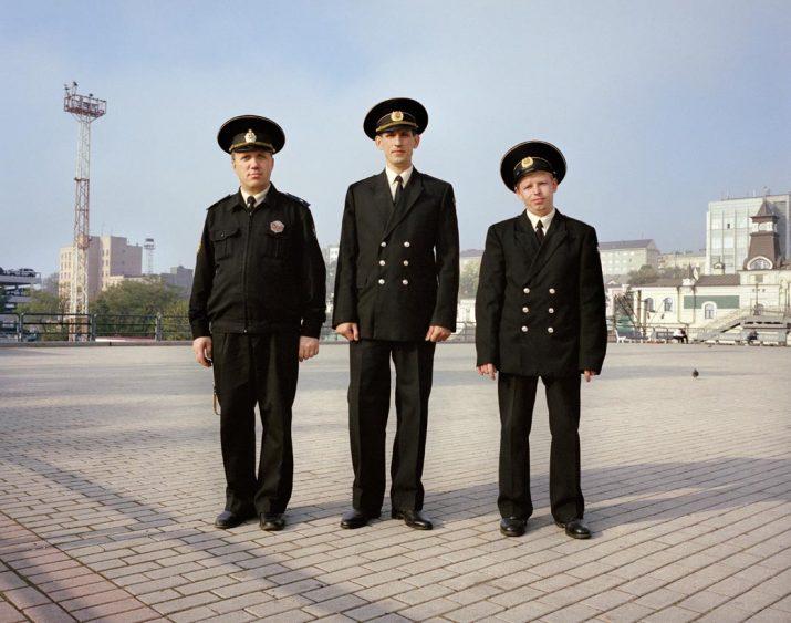Port officials, Vladivostok, Far East Russia, October 2004