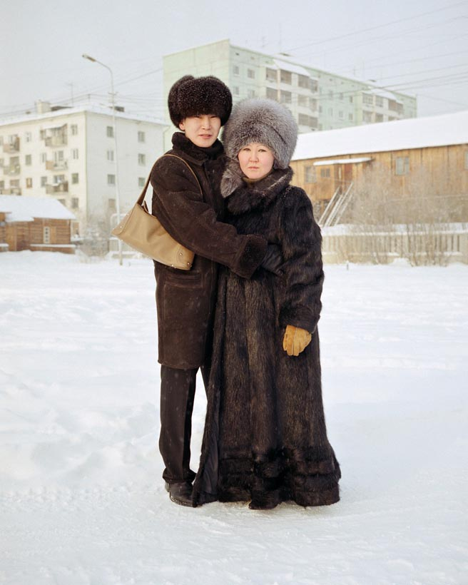 Zhenya and his pregnant fiance Mia, Yakutsk, Eastern Siberia, November 2004
