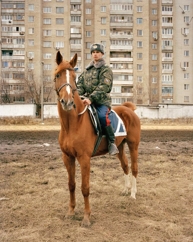 Maxim Kovalov, Cossack soldier, Rostov-on-Don, Northern Caucasus, March 2005