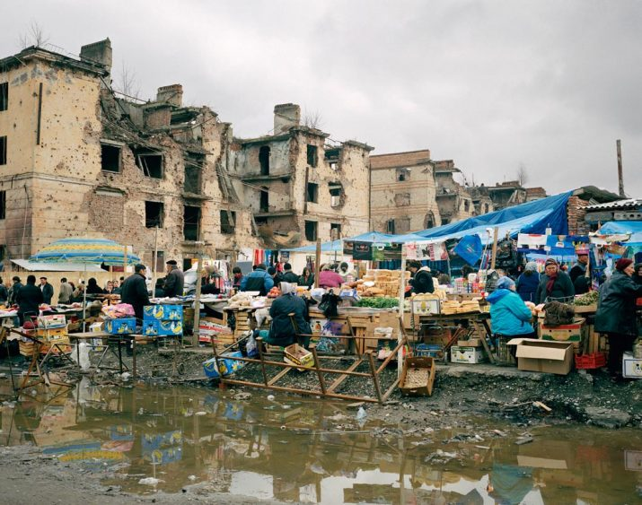 Outdoor market in Grozny, Chechnya, Northern Caucasus, April 2005