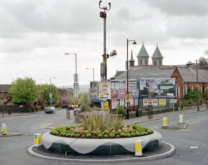 Political posters, Ardoyne roundabout, Crumlin Road, Belfast, 2nd May 2010 (Belfast North constituency)