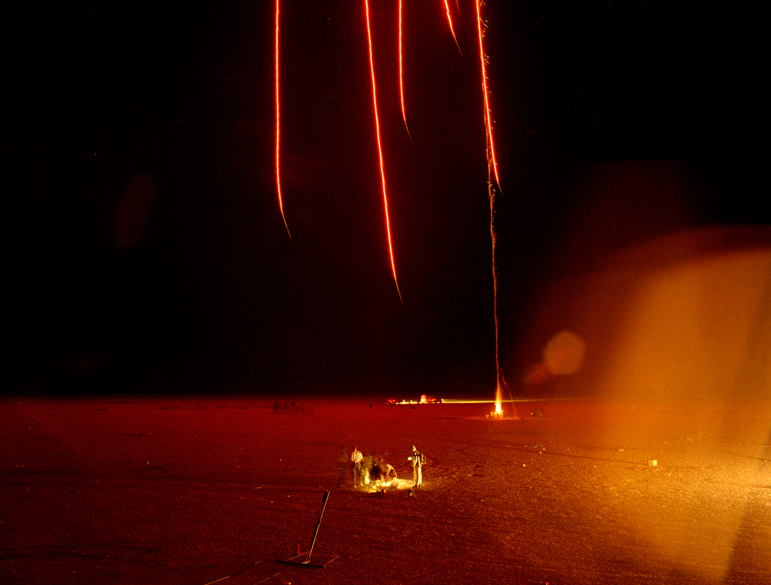 Flares and Fire Pit, Desert Blast, Nevada, 1999