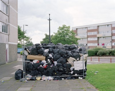 Uncollected rubbish by protesting council workers, Southampton, 3 July 2011