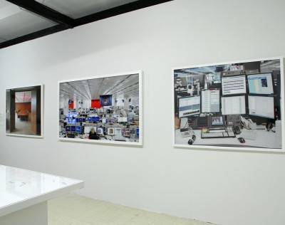 John Hansard Gallery installation from 'Image of Finance' exhibition, November 2014