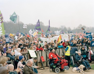 TUC demonstration against public spending cuts, Hyde Park, London, 26 March 2011