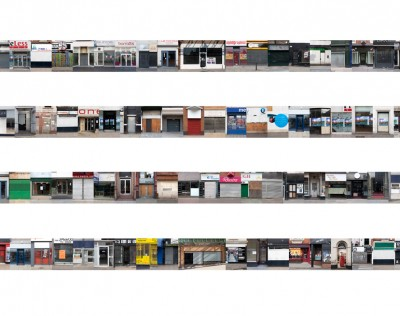 UK High Street #2 , 2011 - 2012 (Digital collage in vitrine)