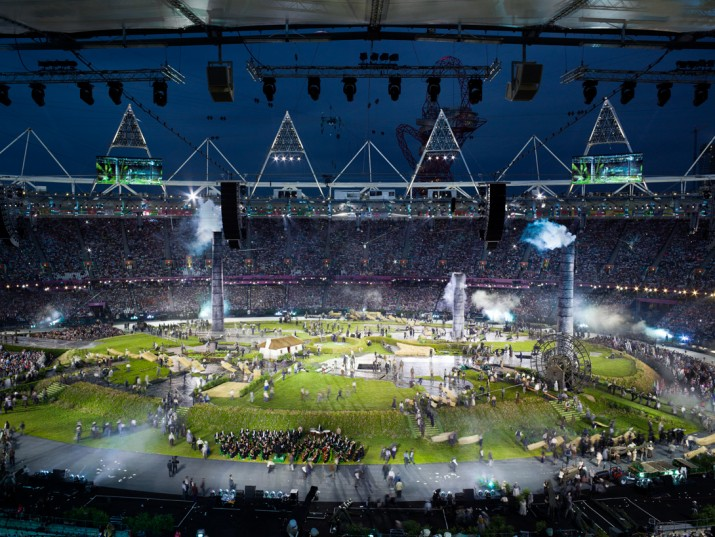 Opening ceremony, Olympic Stadium, London, 27 July 2012