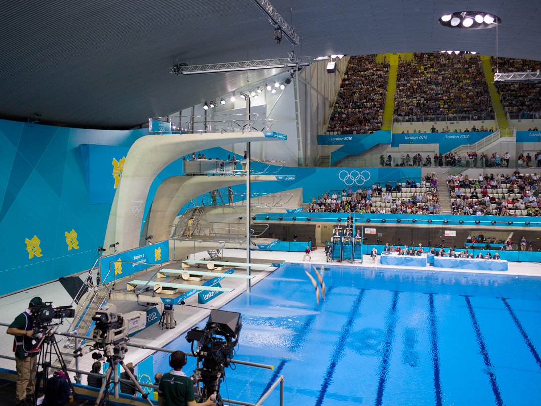Women'€™s Synchronised 10m Platform Diving Final, Aquatics Centre, London, 29 July 2012