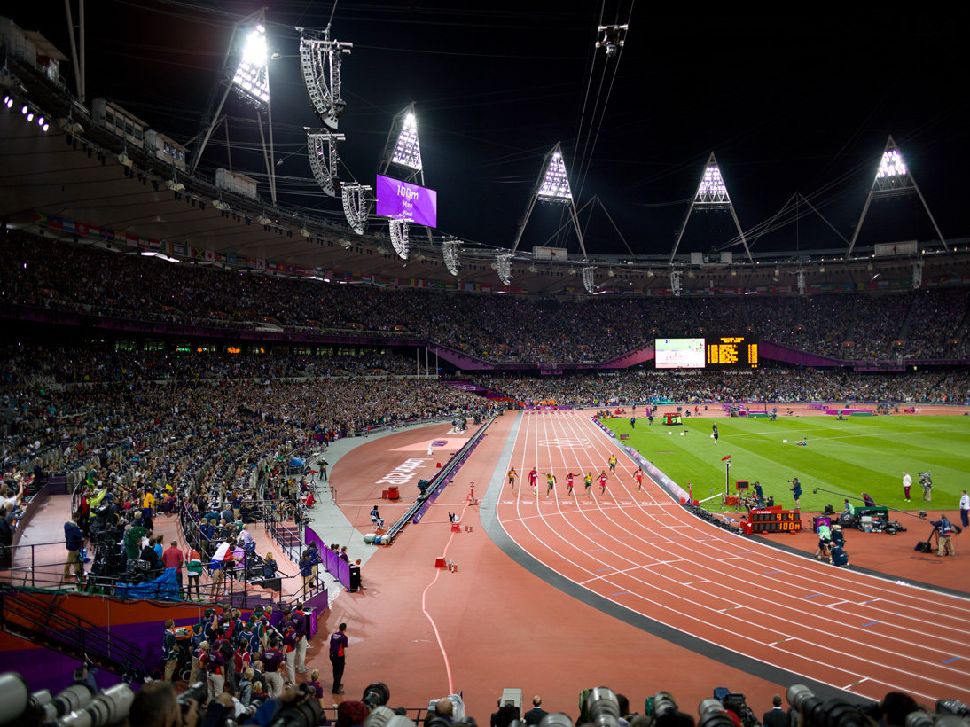 Men'€™s 100m Final, Olympic Stadium, London, 5 August 2012