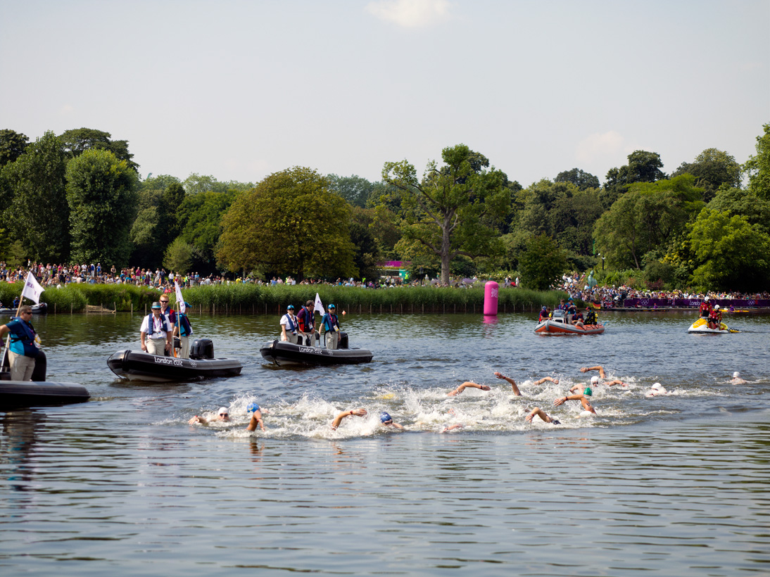 Men's 10km Marathon Swim, Serpentine, Hyde Park, London, 10 August 2012
