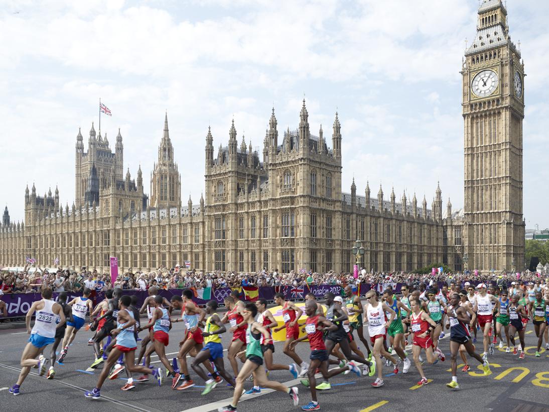 Men'€™s Marathon, Westminster Bridge, London, 12 August 2012