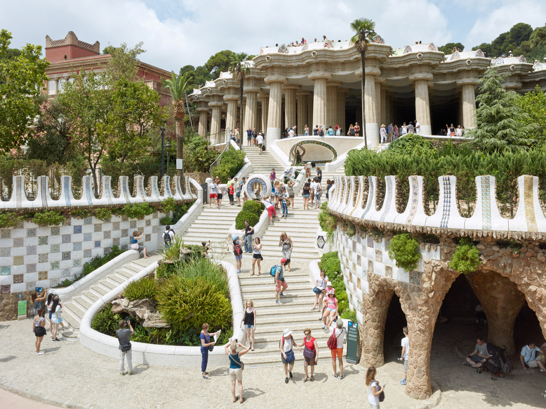 The Park Güell, Barcelona, Spain, 2015 (opened 1926)
