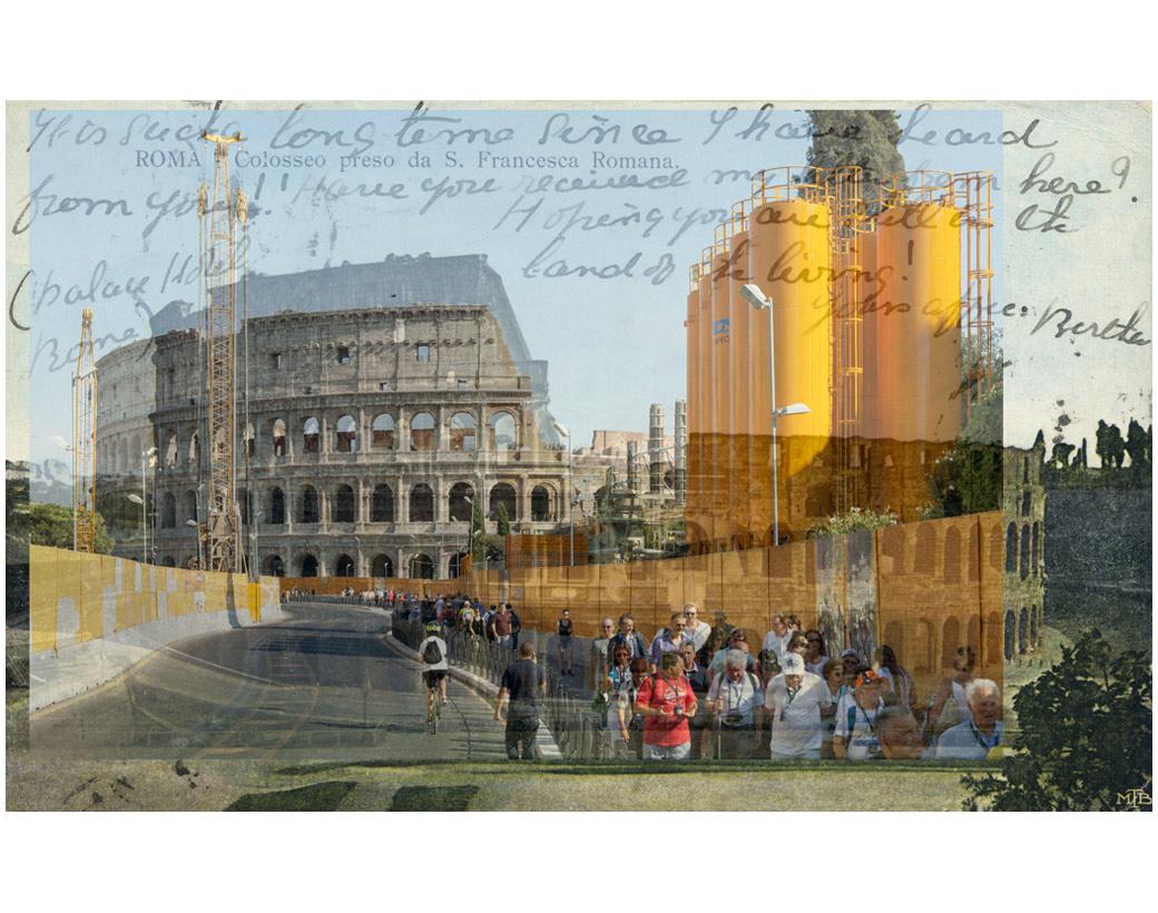 """""""Still in the land of the living"""", Roma Colosseo preso da S. Francesca Romana, 1954"""