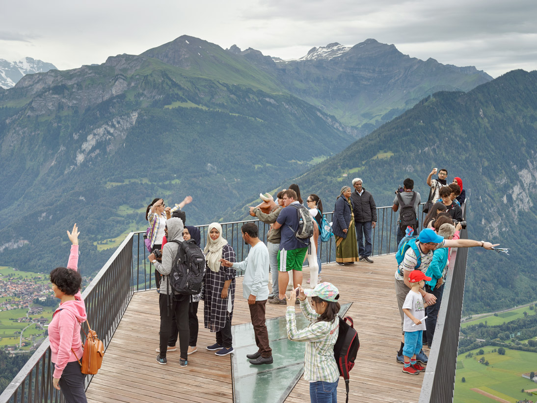 Harder Kulm - Two Lakes Bridge #2, Interlaken, Switzerland, 2016
