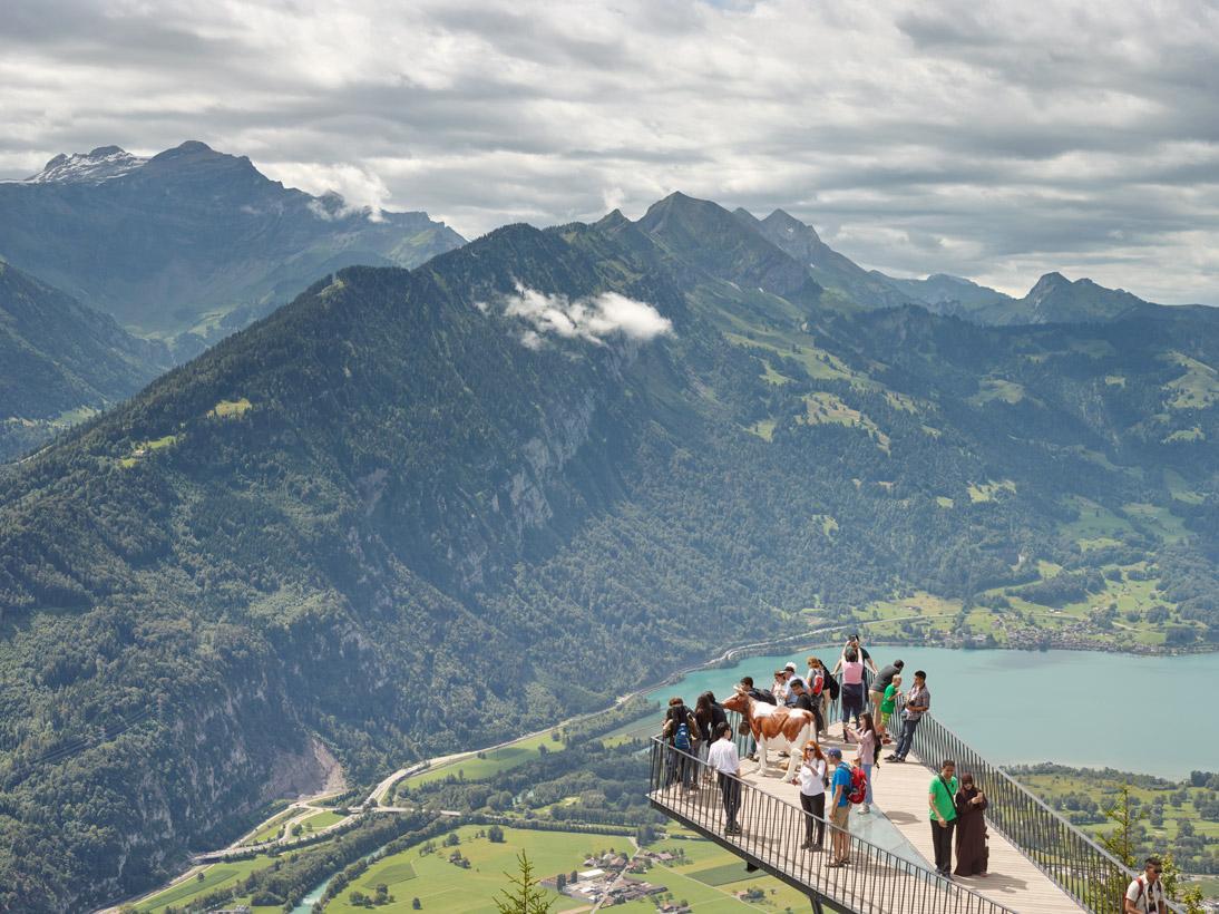 Harder Kulm - Two Lakes Bridge #1, Interlaken, Switzerland, 2016